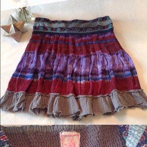 Free people tie dye skirt